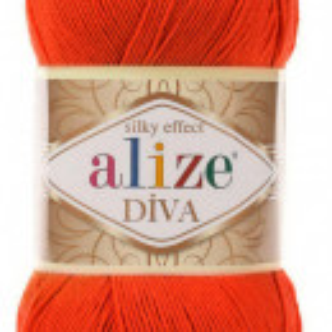 Fir de tricotat sau crosetat - Fir microfibra ALIZE DIVA PORTOCALIU 37