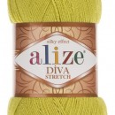 Fir de tricotat sau crosetat - Fir microfibra ALIZE DIVA STRETCH LIME 109
