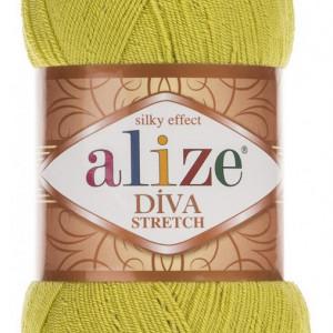 Fir de tricotat sau crosetat - Fir microfibra ALIZE DIVA STRETCH LIME 109