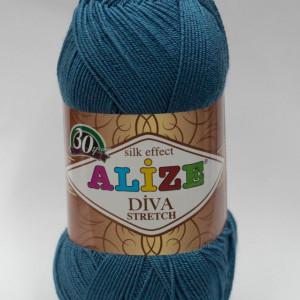 Fir de tricotat sau crosetat - Fir microfibra ALIZE DIVA STRETCH ALBASTRU 353
