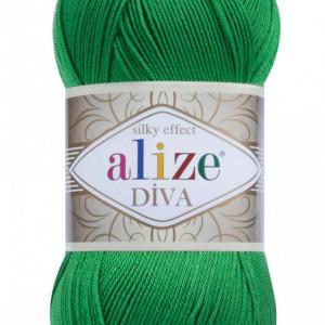 Fir de tricotat sau crosetat - Fir microfibra ALIZE DIVA VERDE 123