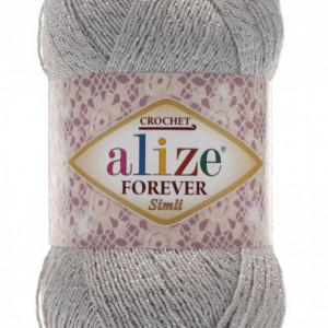 Fir de tricotat sau crosetat - Fir microfibra ALIZE FOREVER SIMLI GRI 52