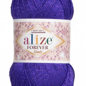 Fir de tricotat sau crosetat - Fir microfibra ALIZE FOREVER SIMLI MOV 252