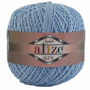 Fir de tricotat sau crosetat - Fire Alize Aura - Bleu - 218