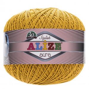 Fir de tricotat sau crosetat - Fire Alize Aura - Galben - 82