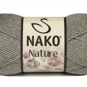 Fir de tricotat sau crosetat - Fire amestec Bumbac + Acril + Vascoza NAKO NATURE GRI 10545