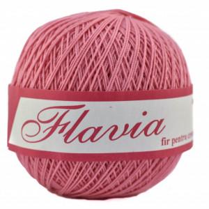 Fir de tricotat sau crosetat - Fire Bumbac 100% FLAVIA ROMANOFIR BOBINA ROZ 1210