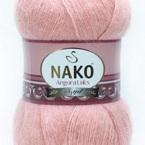 Fir de tricotat sau crosetat - Fire tip mohair acril NAKO ANGORA LUKS ROZ 1424