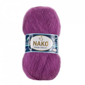 Fir de tricotat sau crosetat - Fire tip mohair acril NAKO MOHAIR DELICATE - MOV COD 1048