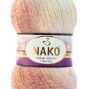 Fir de tricotat sau crosetat - Fire tip mohair acril NAKO MOHAIR DELICATE COLORFLOW DEGRADE 28090