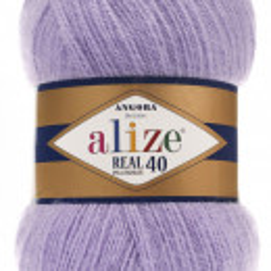 Fir de tricotat sau crosetat - Fire tip mohair din acril Alize Angora Real 40 Lila 146