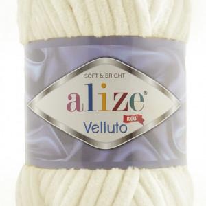 Fir de tricotat sau crosetat - Fire tip mohair din acril ALIZE VELLUTO CREAM 62