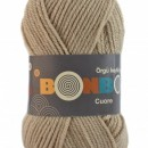 Fir de tricotat sau crosetat - Fire tip mohair din acril BONBON CUORE - BEJ - 98603