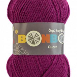 Fir de tricotat sau crosetat - Fire tip mohair din acril BONBON CUORE - MAGENTA - 98634