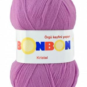 Fir de tricotat sau crosetat - Fire tip mohair din acril BONBON KRISTAL lila 98261