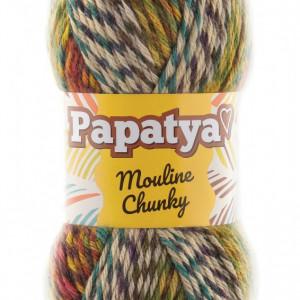 Fir de tricotat sau crosetat - Fire tip mohair din acril Kamgarn Papatya Mouline Chunky Degrade 3543