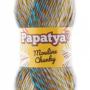 Fir de tricotat sau crosetat - Fire tip mohair din acril Kamgarn Papatya Mouline Chunky Degrade 6360