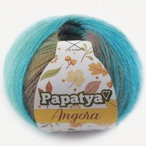 Fir de tricotat sau crosetat - Fire tip mohair din acril Kamgarn Papatya Angora degrade 81