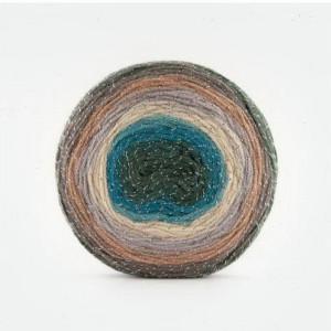 Fir de tricotat sau crosetat - Fire tip mohair din acril Kamgarn Papatya CAKE SILVER degrade 309