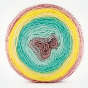 Fir de tricotat sau crosetat - Fire tip mohair din acril Kamgarn Papatya CAKE degrade 208