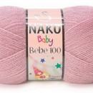 Fir de tricotat sau crosetat - Fire tip mohair din acril NAKO BABY - BEBE 100 roz 247