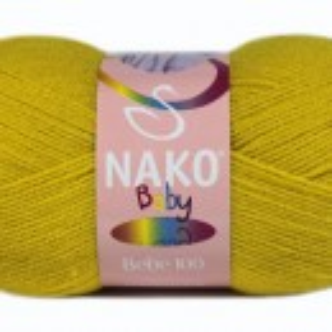 Fir de tricotat sau crosetat - Fire tip mohair din acril Nako Baby MUSTAR 10518