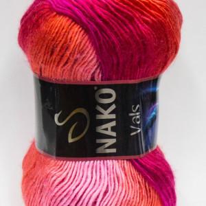 Fir de tricotat sau crosetat - Fire tip mohair din acril premium Nako VALS DEGRADE 86329