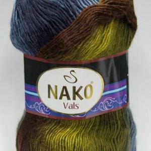 Fir de tricotat sau crosetat - Fire tip mohair din acril premium Nako VALS DEGRADE 86386