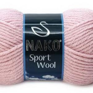 Fir de tricotat sau crosetat - Fire tip mohair din acril si lana Nako Sport Wool ROZ 10639
