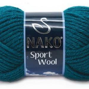 Fir de tricotat sau crosetat - Fire tip mohair din acril si lana Nako Sport Wool ALBASTRU 2273
