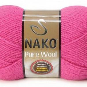 Fir de tricotat sau crosetat - Fire tip mohair din lana 100% Nako PURE WOOL ROZ 4569