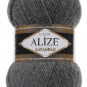 Fir de tricotat sau crosetat - Fire tip mohair din lana 49% si acril 51% Alize Lanagold Gri 182