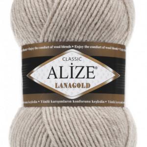 Fir de tricotat sau crosetat - Fire tip mohair din lana 49% si acril 51% Alize Lanagold Bej 152