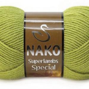 Fir de tricotat sau crosetat - Fire tip mohair din lana 50% si acril 50% Nako Superlambs Special Verde 23107