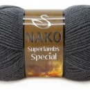 Fir de tricotat sau crosetat - Fire tip mohair din lana 50% si acril 50% Nako Superlambs Special GRI 1937