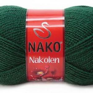 Fir de tricotat sau crosetat - Fire tip mohair din lana 50% si acril 50% Nakolen VERDE 3601
