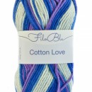Fir de tricotat sau crosetat - Fire tip mohair din poliester Filo Blu - Cotton Love - 02 DEGRADE