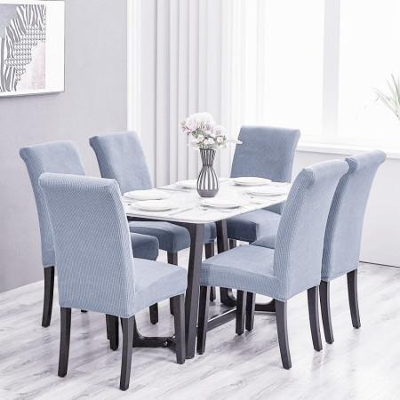 Set 6 huse elastice pentru scaune culoare Gri
