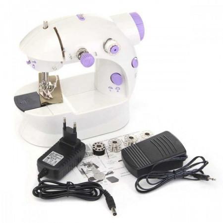 Mini masina de cusut portabila cu adaptor pentru priza inclus
