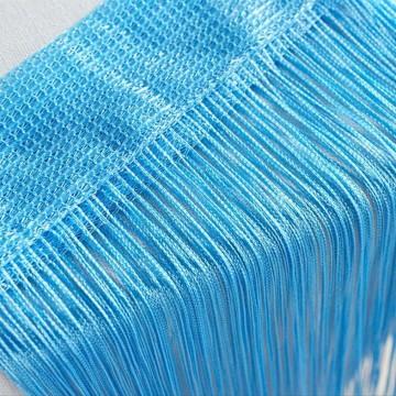 Perdea franjurata deasa ( ate ) dimensiuni 3 x 3 metri - Bleu