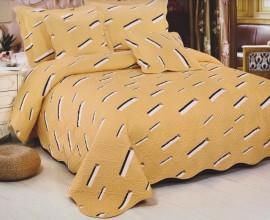 Cuvertura de pat matlasata din bumbac brodat + fete perna ES02