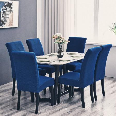 Set 6 huse elastice pentru scaune culoare Albastru