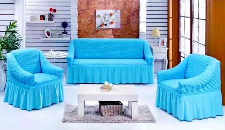 Set huse canapea 3 Locuri si doua fotolii - 3.1.1. - Bleu