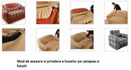Husa pentru canapea de 2 locuri - Gri