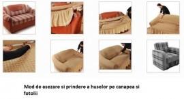 Husa pentru canapea de 3 locuri - Bej Natur