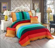 Cuvertura de pat din bumbac matlasat imprimat + 4 fete perna ES114