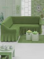 Husa elastica pentru Coltar, cu volanas - Verde