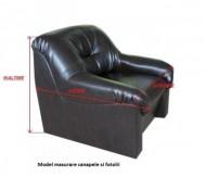 Husa pentru canapea de 3 locuri - Maro
