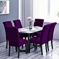 Set 6 huse elastice pentru scaune culoare Mov
