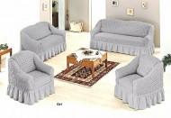 Set huse canapea 3 Locuri 2 Locuri si doua fotolii  - 3.2.1.1. Gri